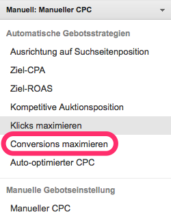 Conversions maximieren in Google AdWords