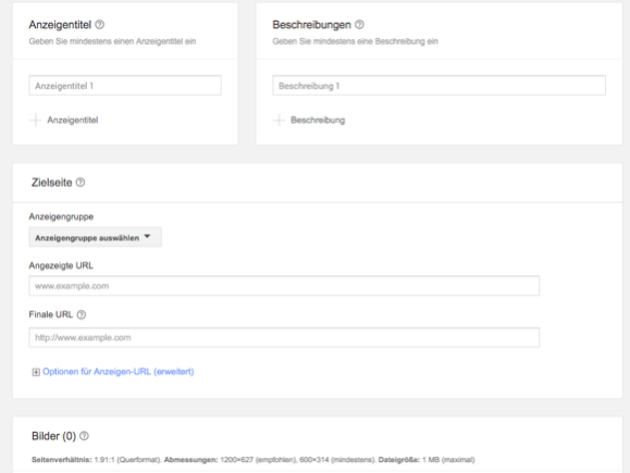 Smart Display Anzeigenerstellung in Google AdWords