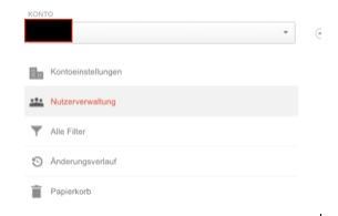 Nutzerrechte in Google Analytics