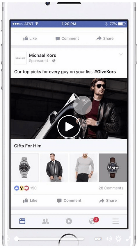 Facebook Collection Ad