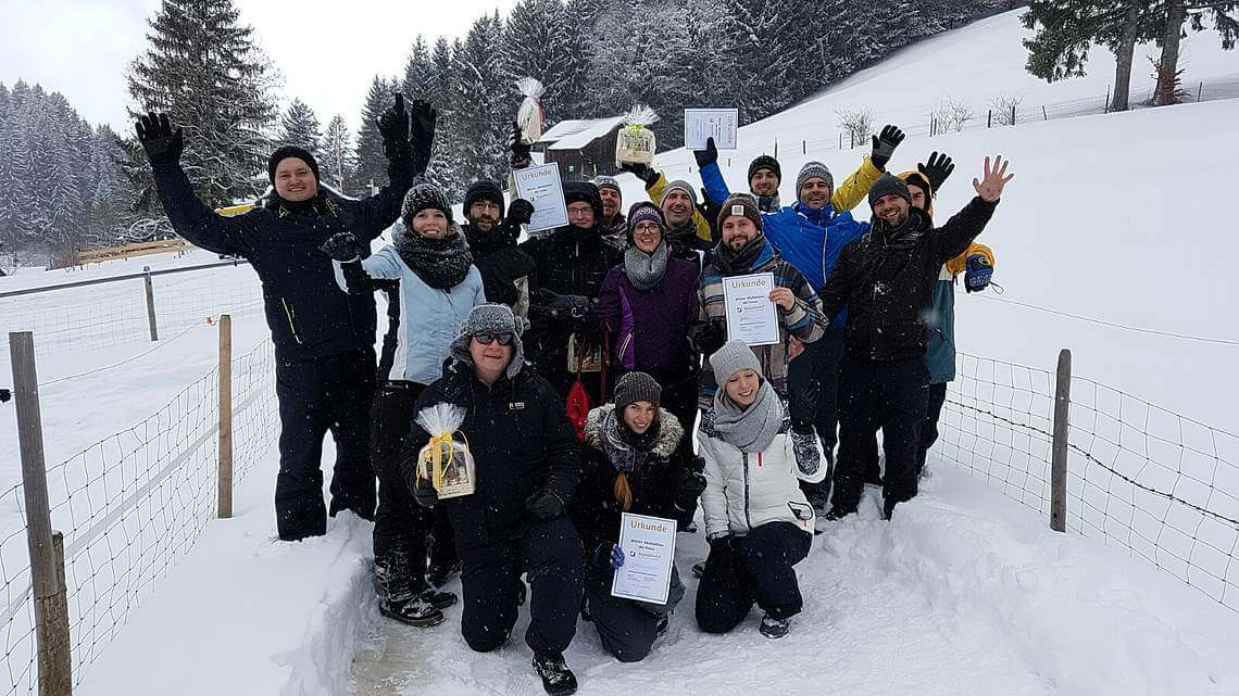 Beyond Media beim Winter Multiathlon