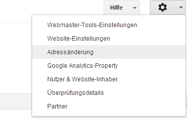 Adressänderung in der Search Console