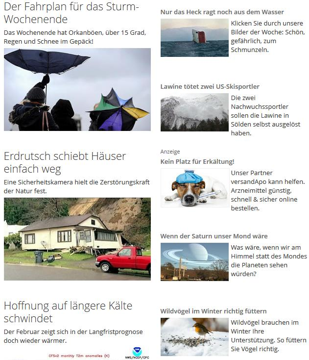 Content-Marketing bei wetter.de