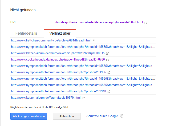 Crawling-Fehler in der Search Console