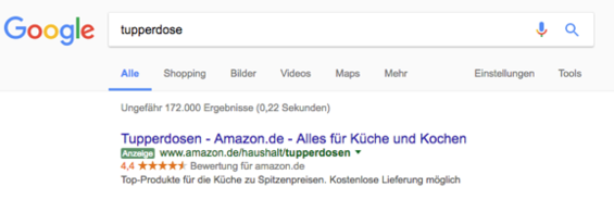 Amazon im Keyword Advertising